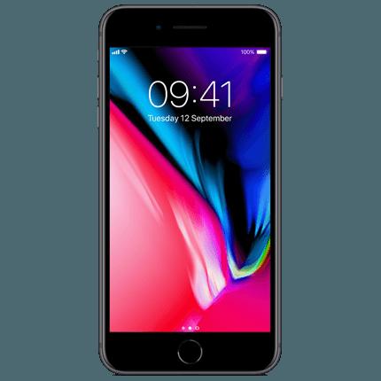 Znalezione obrazy dla zapytania apple iphone 8 space gray png