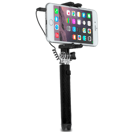 kitvision wired pocket selfie stick accessories from o2. Black Bedroom Furniture Sets. Home Design Ideas